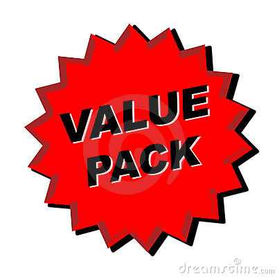 Value Pack Sign
