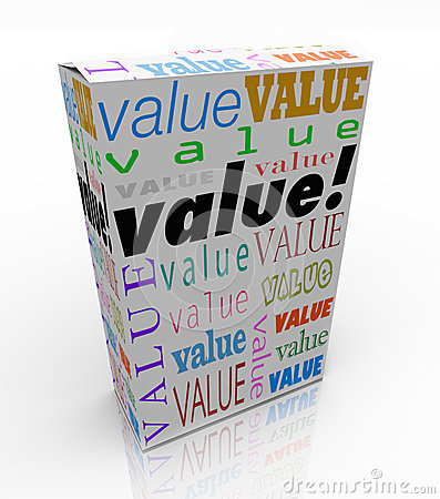 Value Word on Package Box Best Price Quality Product