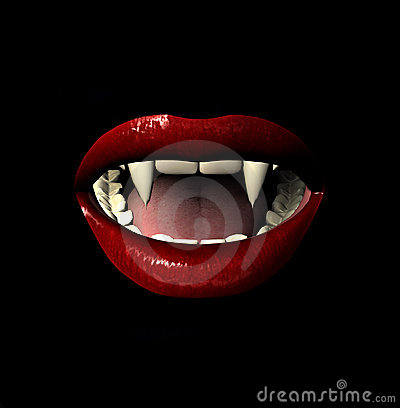 Free Vamp Smile Royalty Free Stock Images - 619069