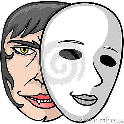 Vampire Behind Mask