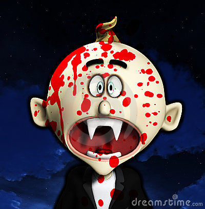 Vampire choqué de dessin animé