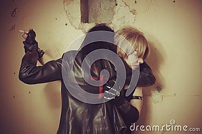 Vampire and her victim