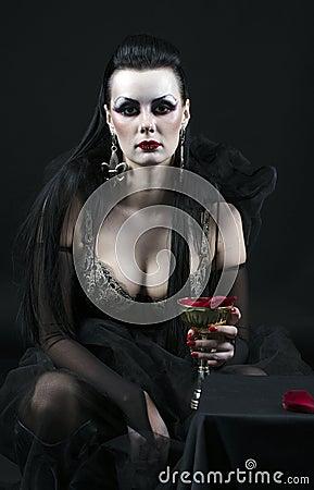 Free Vampire Lady Royalty Free Stock Photo - 21760245