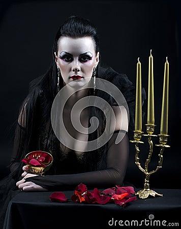 Free Vampire Lady Stock Photography - 21761652
