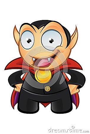 Vampire Mascot - Hands On Hips