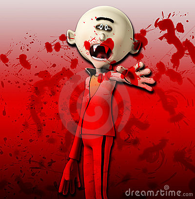 Vampiro que alcanga para fora