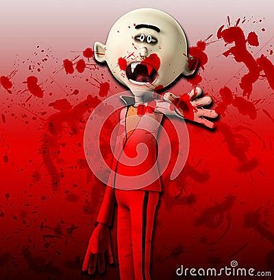 Vampiro que alcanza hacia fuera