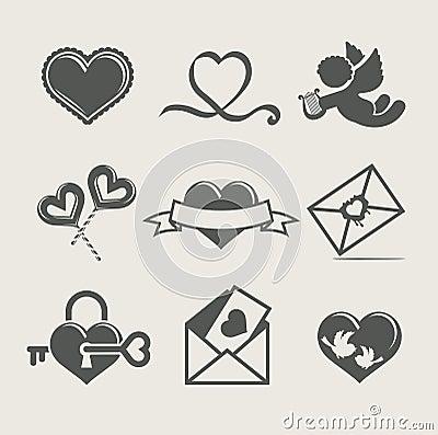 Van de de valentijnskaart    s dag van heilige het vastgestelde pictogram