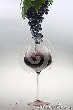Van de druif aan het glas