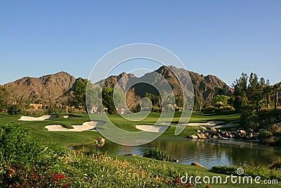 Van de het golfcursus van het Palm Springs pari 3