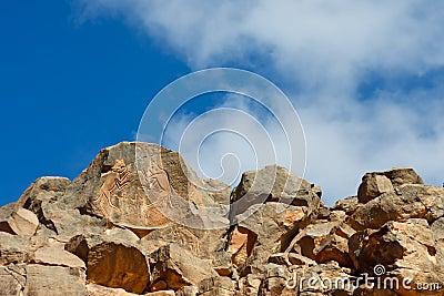 Van de ?het Vechten Katten? de Gravure, Wadi Mathendous