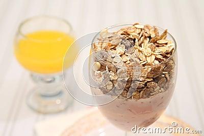 Van de yoghurtmuesli van het ontbijt het gezonde dieet