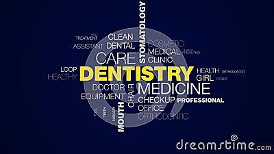 Van de de zorgstomatologie van de tandheelkundegeneeskunde de het bederftanden die de mondhygiëne witten van de gezondheidszorgta stock footage