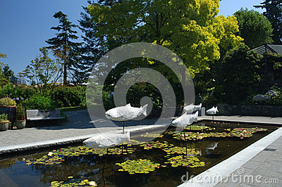 Van Dusen Gardens, Vancouver Editorial Photo