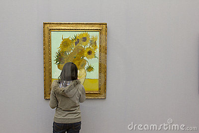 VAN GOGH - SUNFLOWERS Editorial Photography
