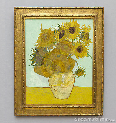 VAN GOGH - SUNFLOWERS Editorial Stock Photo