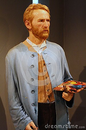 Van Gogh wax figure Editorial Stock Photo