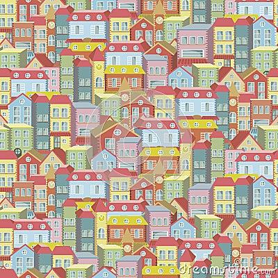 Van het stadsconcept naadloos patroon als achtergrond