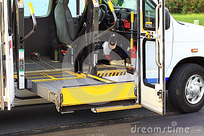 Disabled Access Van Stock Photo