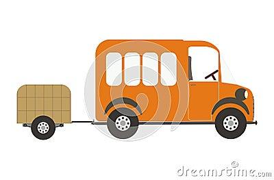 Van and luggage car