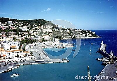 Van Nice (Frankrijk) de haven
