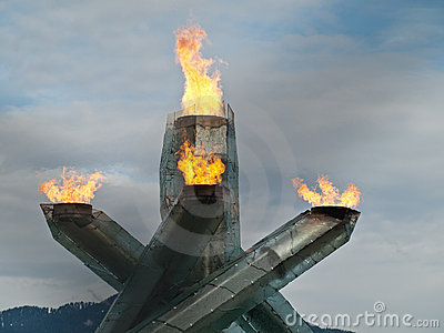 Vancouver 2010 – Olympic Flame Editorial Stock Photo