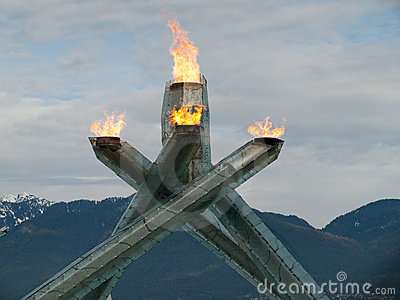 Vancouver 2010 – Olympic Flame Editorial Photo