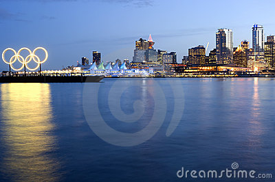 Vancouver 2010 Skyline. Editorial Stock Image