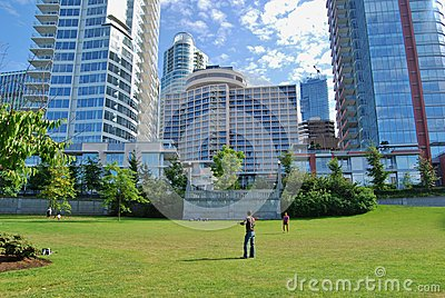Downtown Vancouver Modern Architecture Editorial Photography