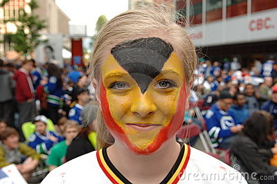 Vancouver Canucks Fans Editorial Stock Photo