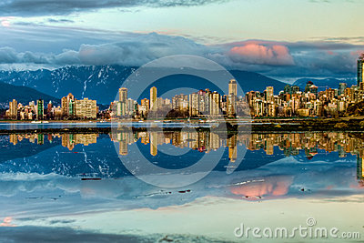 Vancouver City Skyline Reflection