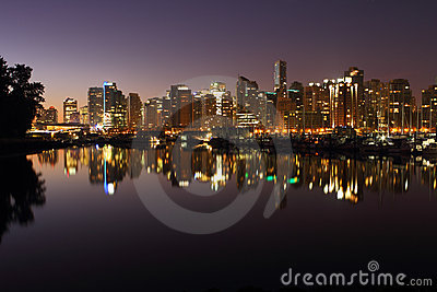 Vancouver, Coal Harbor Reflection