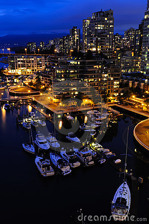 Free Vancouver Downtown At Night Stock Photos - 10867883