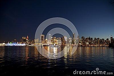 Vancouver en la noche