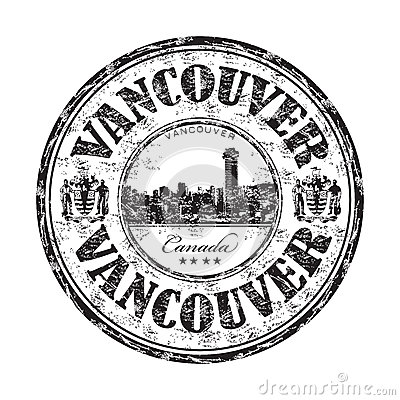Vancouver grunge rubber stamp