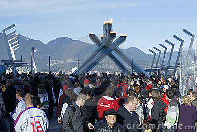 Vancouver Olympic Cauldron Editorial Stock Image