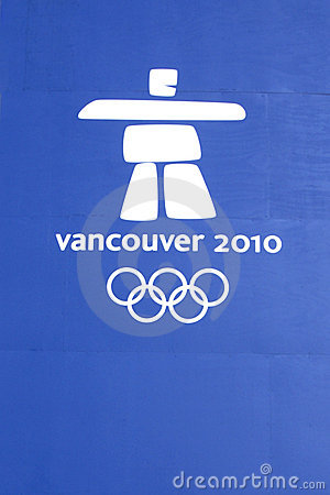 Vancouver Olympic Games Logo Editorial Stock Photo