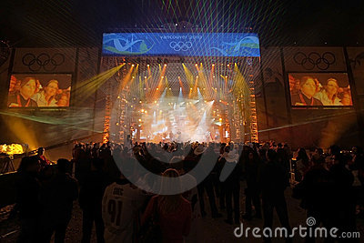 Vancouver Olympic Medal Ceremony Concert Editorial Stock Photo