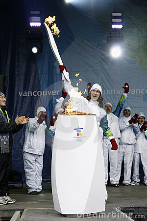 Vancouver Olympics Torch Relay Editorial Photography