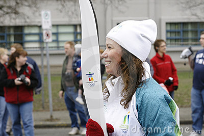 Vancouver Olympics Torch Relay Editorial Photo