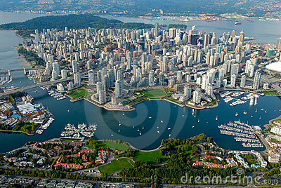 Vancouver from the sky Editorial Stock Image