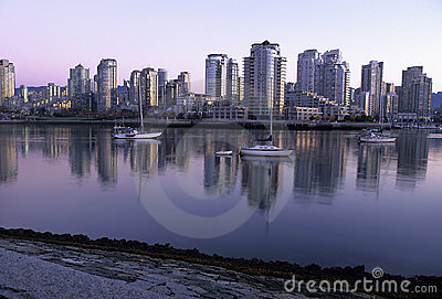 Vancouver skyline at dawn- Canada