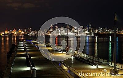 Vancouver skyline by night
