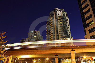 Vancouver Skytrain Night, Commuter Rail