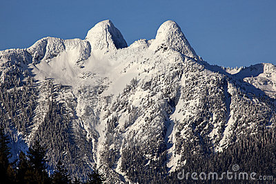 Vancouver Snowy Two Lions Mountains BC