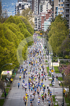 2013 Vancouver Sun Run Editorial Image