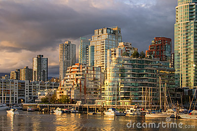 Vancouver - view from Granville Island at downtown