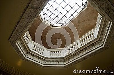 Vanderbilt Mansion skylight Hyde Park, NY Editorial Photo