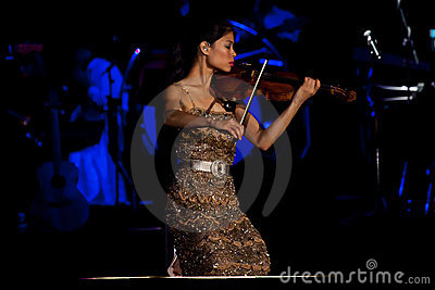 Vanessa-Mae Concert Editorial Image - Image: 20243125