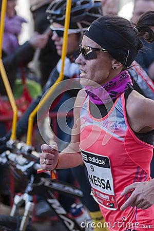 Vanessa Veiga, Mitja Marato Granollers Editorial Stock Image